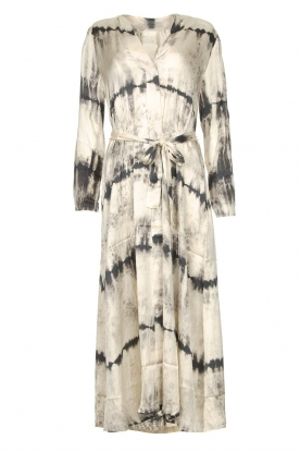 Rabens Saloner | Wrap dress with tie dye print Sandy | natural