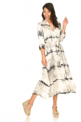 Look Wrap dress with tie dye print Sandy