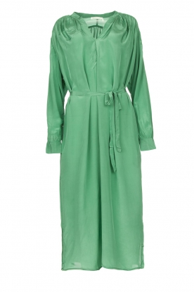 Rabens Saloner | Midi dress with waistbelt Penny | green