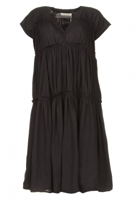 Rabens Saloner | Cotton dress Jytte | black