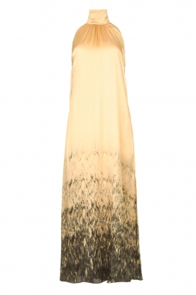 Rabens Saloner | Maxi dress with tie dye print Hope | beige