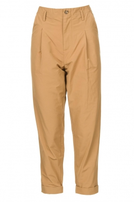 Rabens Saloner | Loose trousers Raina | beige