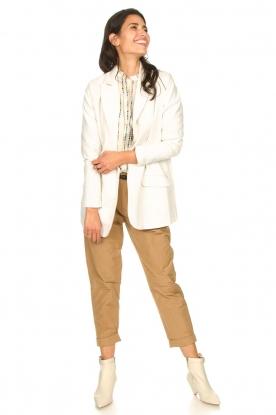 Rabens Saloner |  Loose trousers Raina | beige