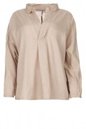 Rabens Saloner |  Oversized cotton top Jojo | grey