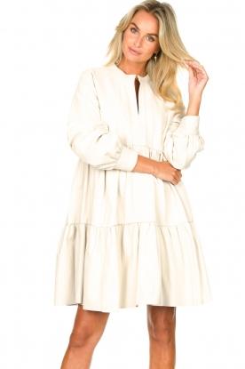 Ibana |  Lamb leather dress Debbie | white