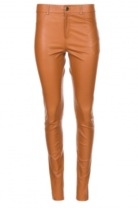 Ibana | Leather skinny pants Passion | camel