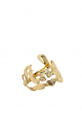 Rijkje Jewelry |  14k gold-plated ring Angel | gold