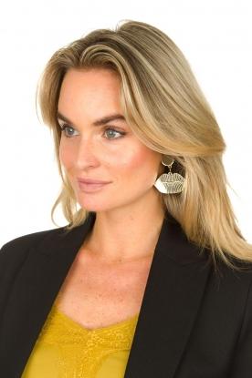 Rijkje Jewelry |  Earrings Lips | gold