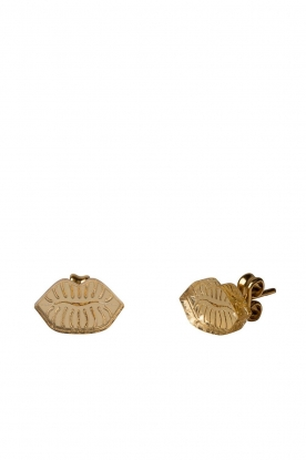 Rijkje Jewelry | Stud earrings Small Lips | gold