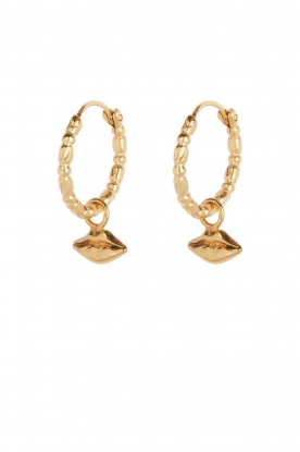 Rijkje Jewelry | 14k gold-plated earrings Mouth | gold