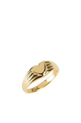 Rijkje Jewelry | 14k gold-plated ring Heart | gold