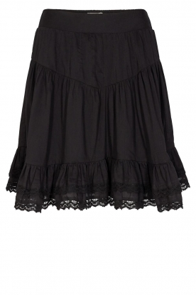 Sofie Schnoor | Skirt with lace Lia | black