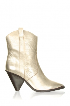 Toral |  Leather ankle boots Elisio | gold