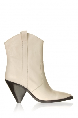 Toral |  Leather ankle boots Elisio | white