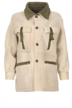CHPTR S |  Reversible lammy coat The Plot | green
