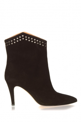 Toral |  Suede ankle boots with studs Joyce | black
