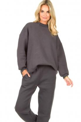 American Vintage |  Oversized sweater Ikatown | dark grey