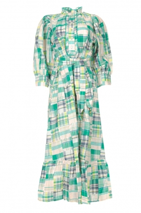 Antik Batik | Cotton maxi dress Alama | green