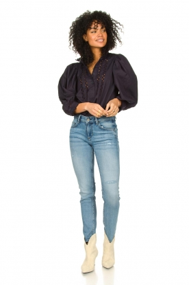 Look Poplin blouse with puff sleeves Mali