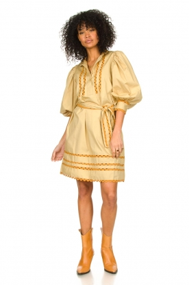 Look Poplin dress with puff sleeves Mali