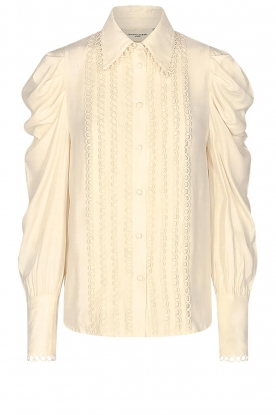 Copenhagen Muse | Broderie blouse with puff sleeves Ultra | natural