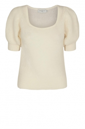 Copenhagen Muse | Knitted top with puff sleeves Diva | white