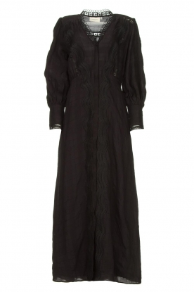 Copenhagen Muse | Broderie maxi dress Ultra | black