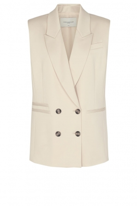 Copenhagen Muse | Double breasted waistcoat Shine | natural