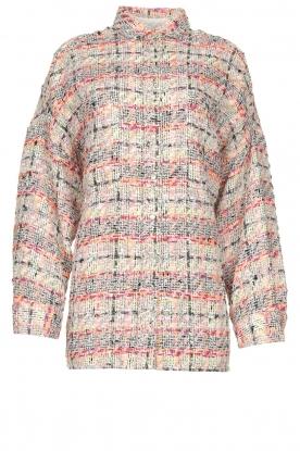 IRO |  Checkered bouclé jacket Mekkie | grey