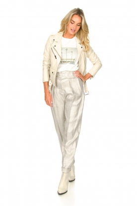 Look Linen paperbag pants Najava