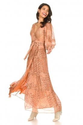 ba&sh | Maxi jurk met lurex Oriane | nude