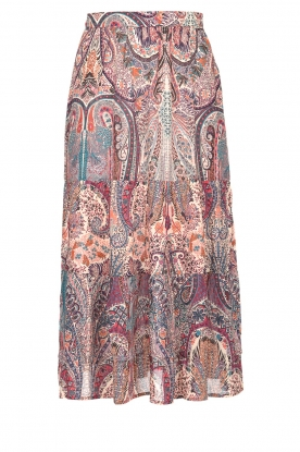 ba&sh | Midi skirt with paisley print Bahia | pink