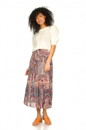 Look Midi skirt with paisley print Bahia