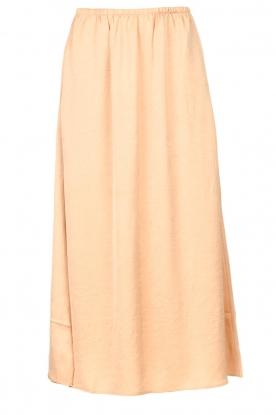 American Vintage |  Acetate midi skirt with pockets Widland | nude