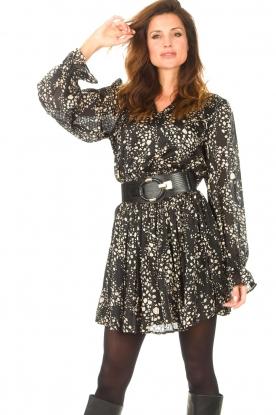 Freebird |  Dress with puff sleeves Friday | black