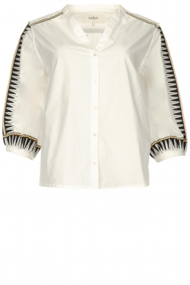 ba&sh |  Embroidered cotton blouse Divine | white