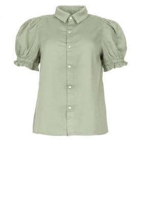 ba&sh | Blouse with short puff sleeves Danee | green