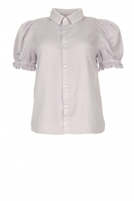ba&sh | Blouse with short puff sleeves Danee | purple
