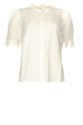 ba&sh |  Cotton broderie blouse Birkin | white