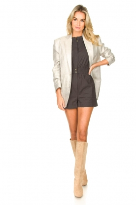 Look Cotton playsuit with ruffles Cecile