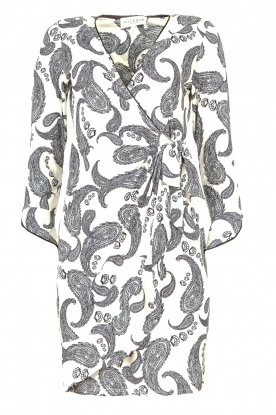 Hale Bob | Dress with paisley print Waves | white