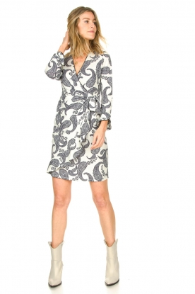 Look Dress with paisley print Waves
