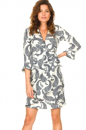 Hale Bob |  Dress with paisley print Waves | white