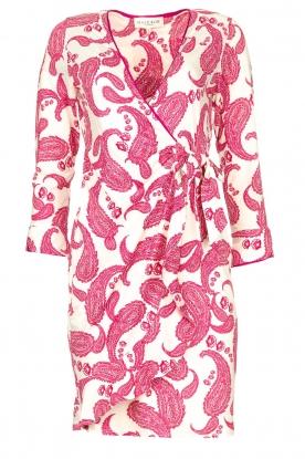 Hale Bob |  Dress with paisley print Waves | pink