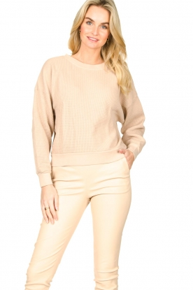 American Vintage |  Cotton sweater with waffle fabric Bowilove | nude