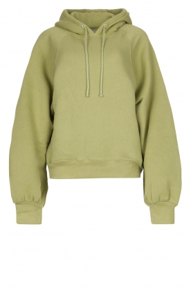 American Vintage | Sweater with hood Ikatown | green