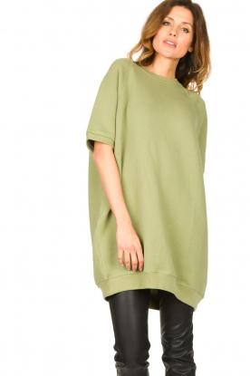 American Vintage |  Tunic sweater Ikatown | green