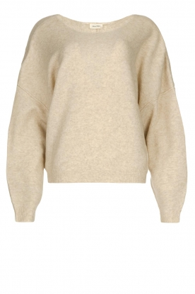 American Vintage | Sweater with dropped sleeves Damsville | natural