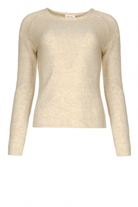 American Vintage | Knitted slim fit sweater Damsville | natural