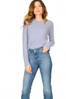 American Vintage |  Knitted slim fit sweater Damsville | blue